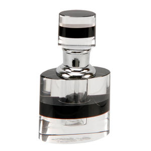 Black And Clear Oval Design Empty Perfume Scent Bottle 234 Preview
