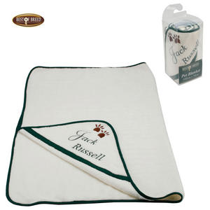 Best of Breed Fleece Dog Blanket in Jack Russell Design Preview