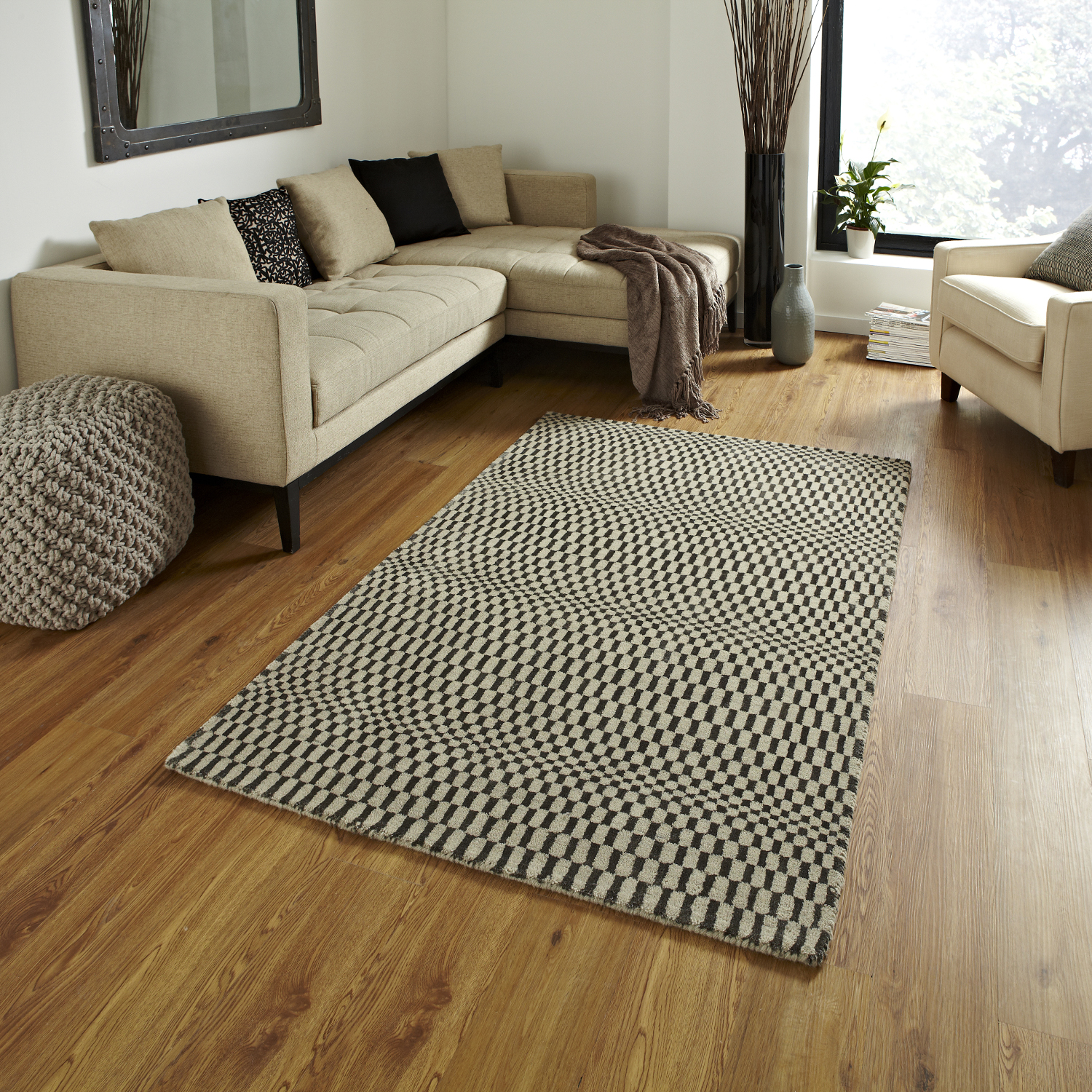 rugs floor rug illusion wave optical mat sonic knotted effect wool hand carpets area carpet flooring diy sell modern