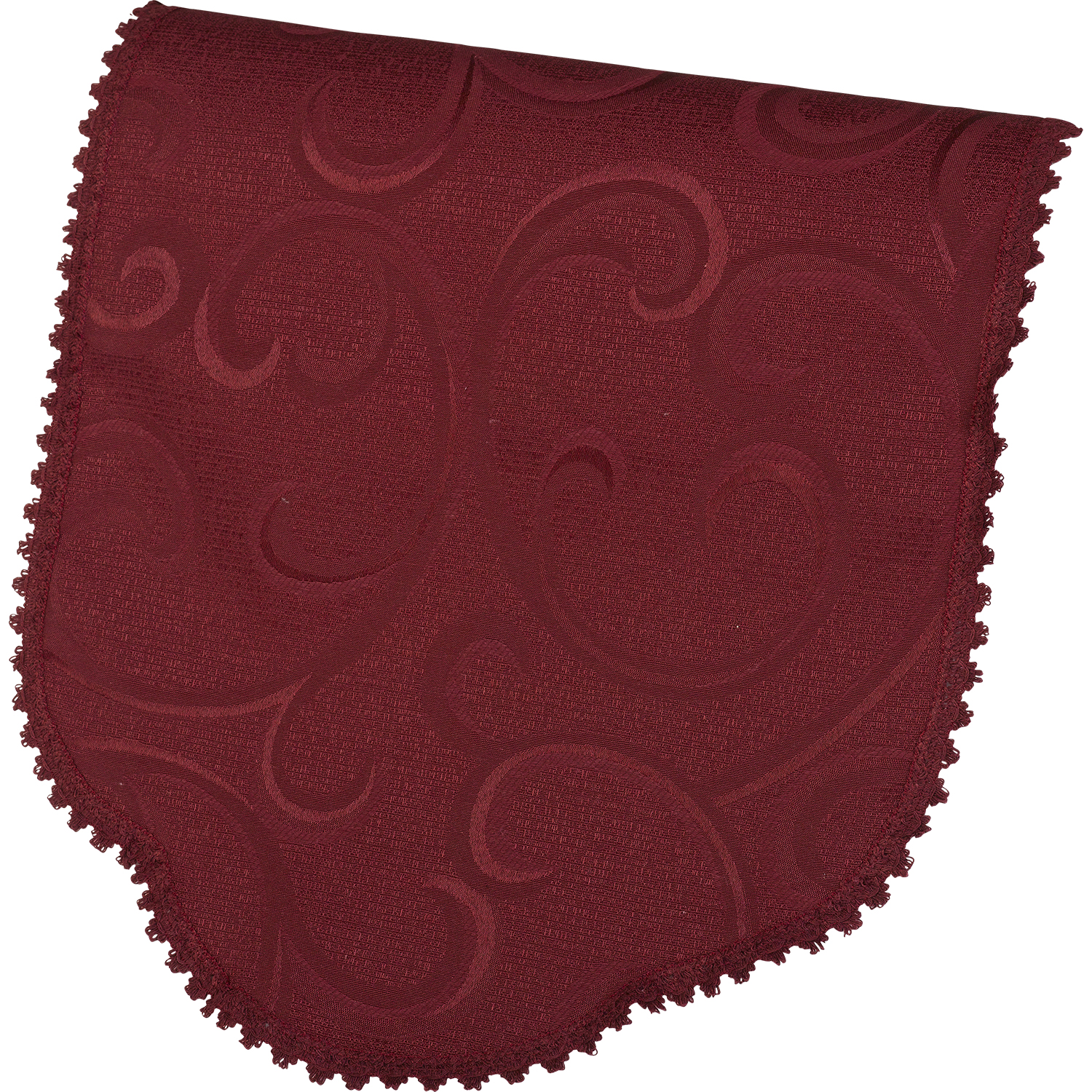 Antimacassar-Single-Chair-Back-Swirl-Pattern-Lace-Trim-Furniture-Cover    Single Swirl Pattern