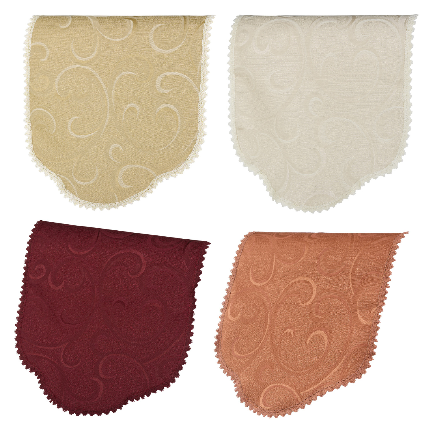 Antimacassar single chair back swirl pattern lace trim for Chair back covers for leather chairs