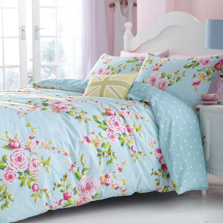 canterbury bettw sche set blumen einfache pflege catherine lansfield gepunktet ebay. Black Bedroom Furniture Sets. Home Design Ideas