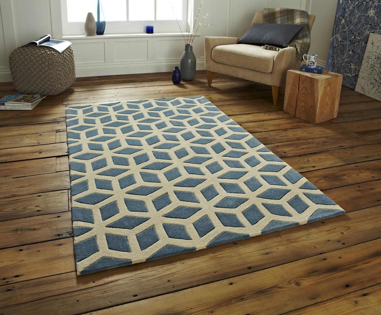 100 Acrylic Large Floor Rug Contemporary Geometric Design