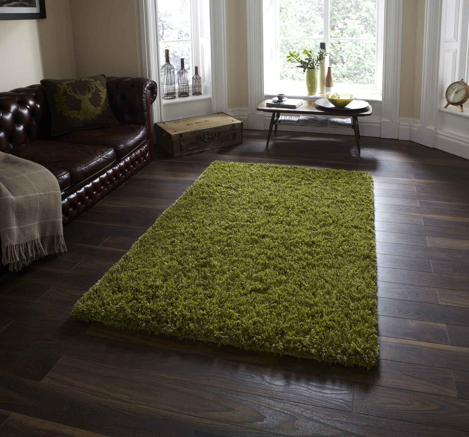 Hand Tufted Soft Wool Viscose Rug Gy Pile Large Carpet Floor Mat