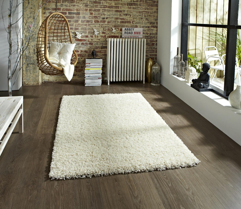 moderne uni shaggy 5 cm pile tapis vista machine fait grand moelleux tapis home decor ebay. Black Bedroom Furniture Sets. Home Design Ideas