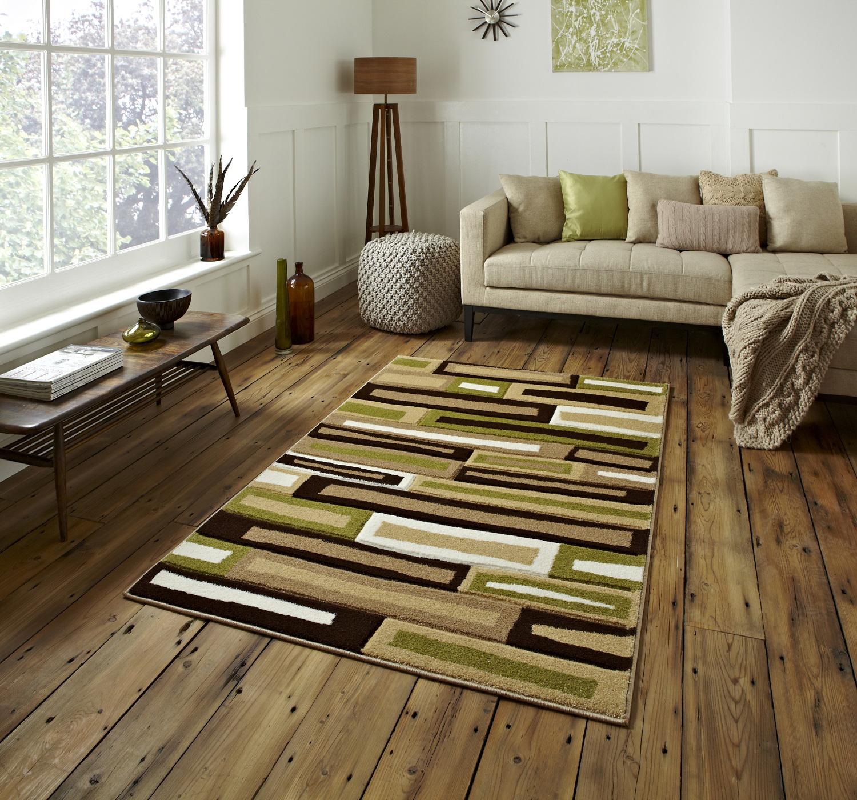 stylish modern matrix brick effect rug machine made contemporary  - stylishmodernmatrixbrickeffectrugmachinemade