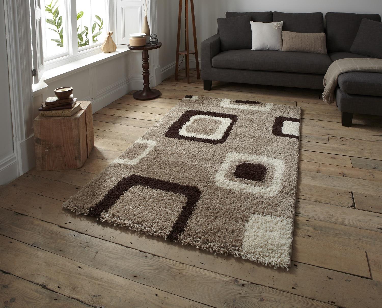 Bold Contemporary Floor Rug Decorative Multi Tone Square