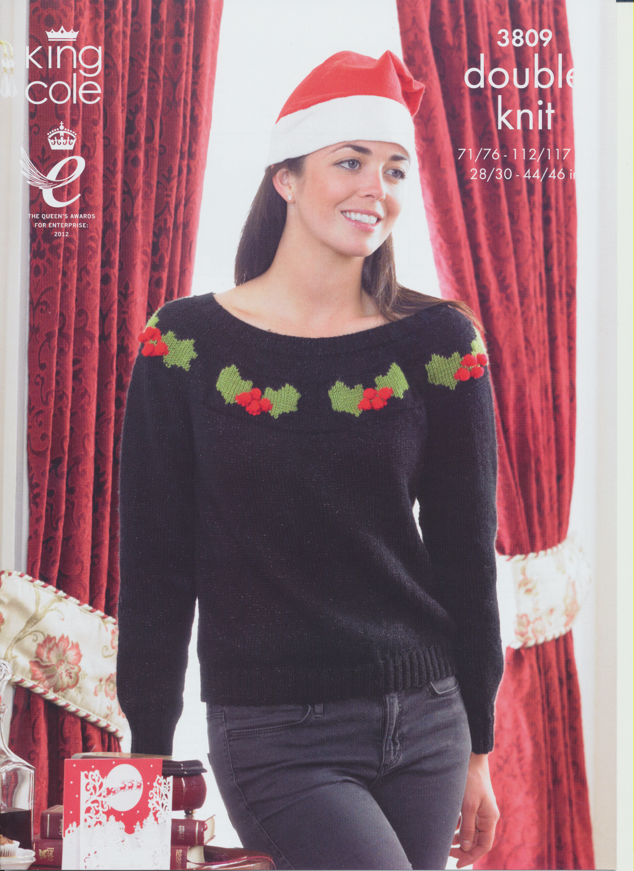 Ladies Double Knitting Pattern King Cole Womens & Mens Christmas Sweater ...