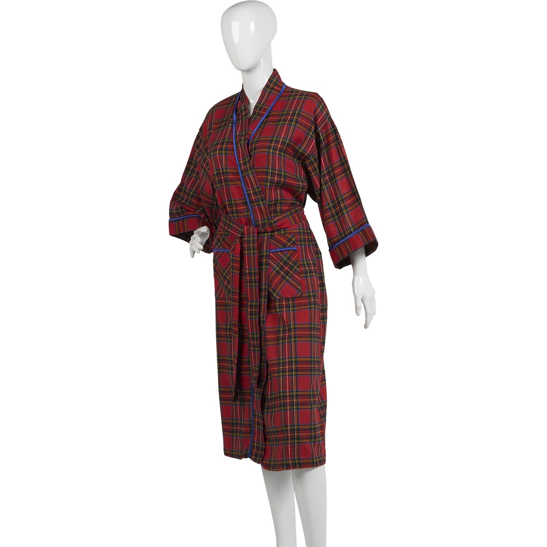 waites tartan check lightweight dressing gown ladies 100. Black Bedroom Furniture Sets. Home Design Ideas