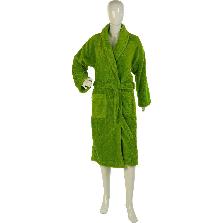 Ladies Green Orange Purple Coral Fleece Plain Robe Nightwear Warm ...