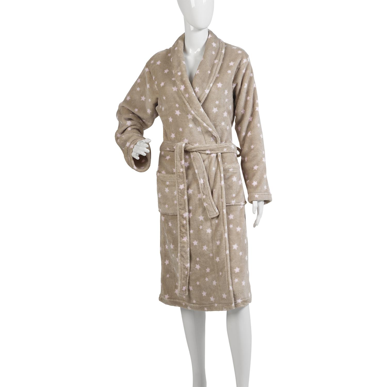 Femme Star Design De Luxe Robe de Chambre Femme Doux Corail