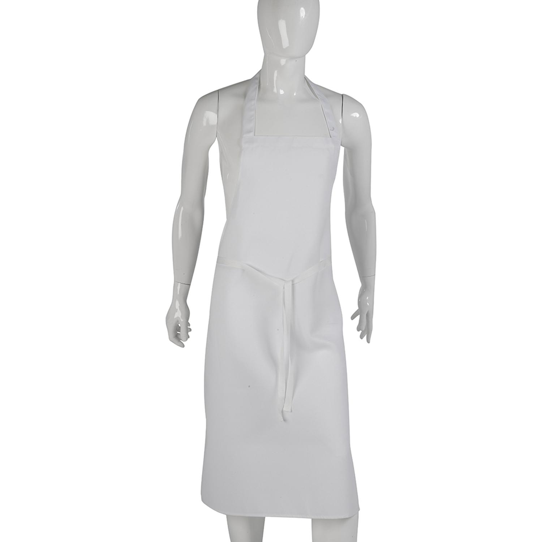 White apron cotton - Full Plain White Aprons Professional Chefs Waiters Restaurant