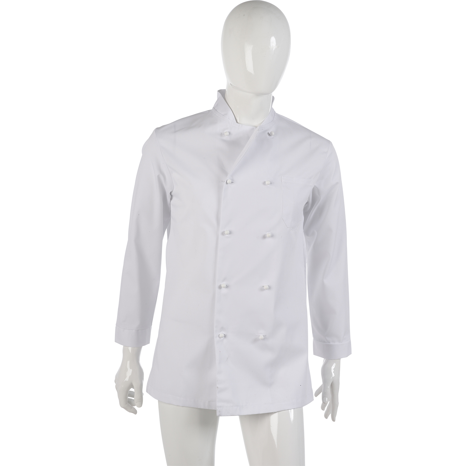 Long Sleeved Chefs Dentist Jacket Polycotton Healthcare Button Up Shirt White