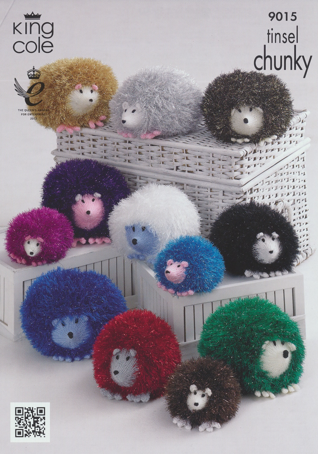 Hedgehog Toy Knitting Pattern : Tinsel Chunky Dollymix Double Knit Pattern King Cole ...
