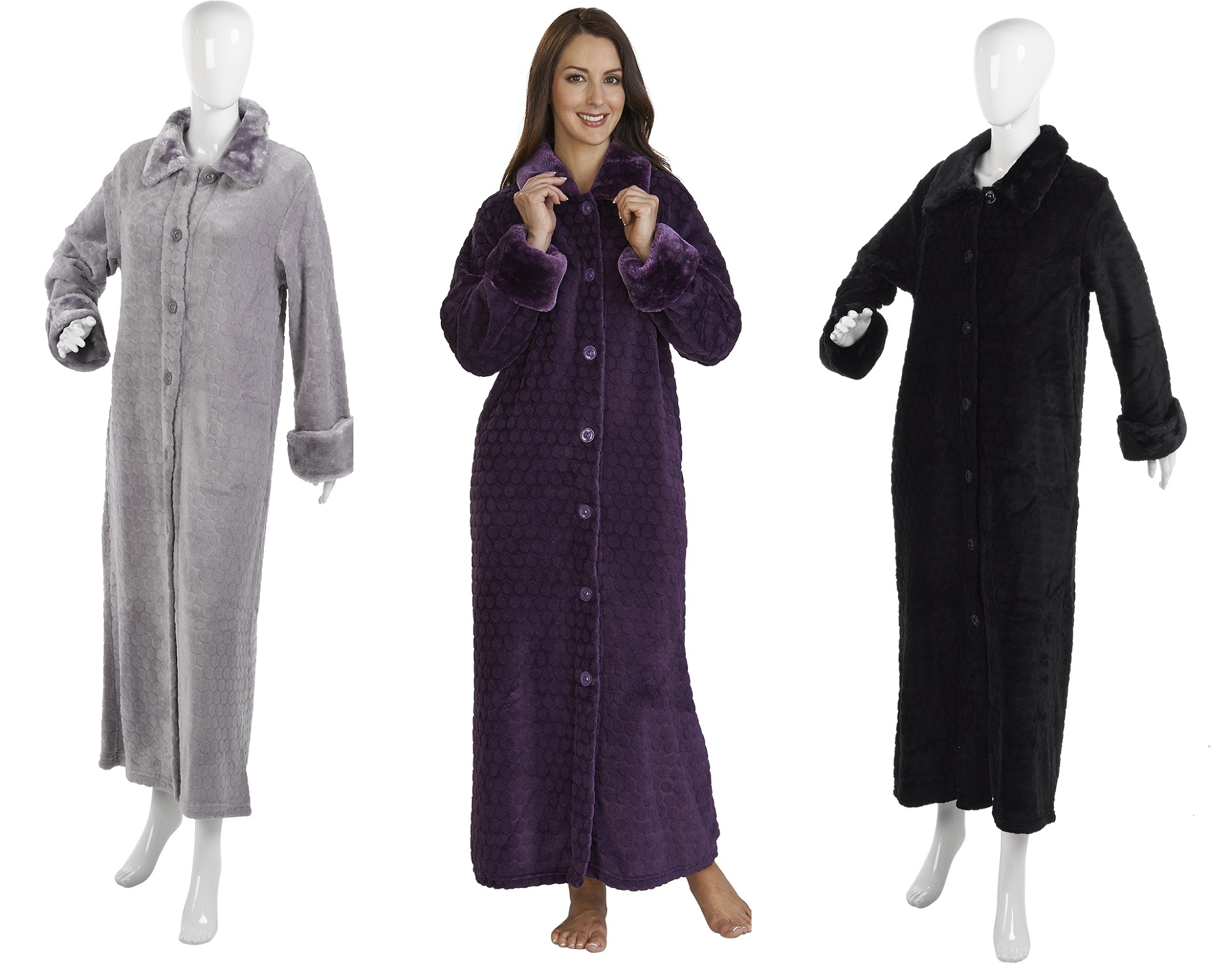 Plus Size Dressing Gowns With Zip - Holiday Dresses