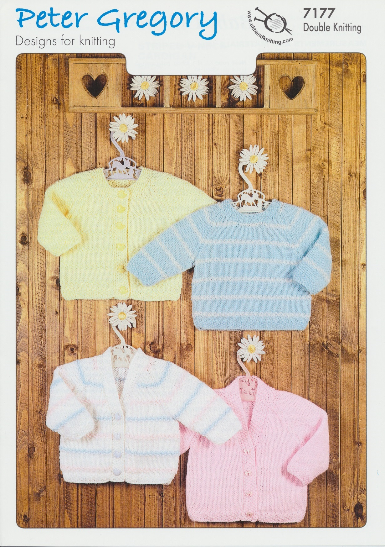 Scarves Knitting Patterns Free : Peter Gregory Double Knitting DK Pattern Baby Sweater & Cardigans 7177 ...