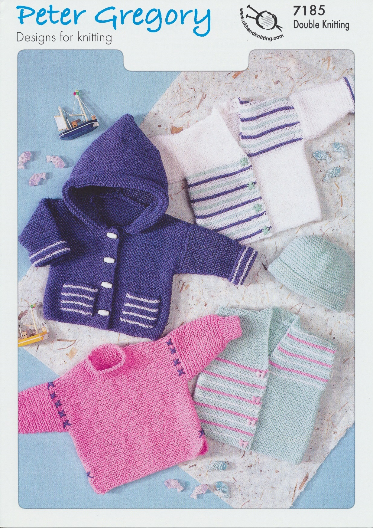 Scarves Knitting Patterns Free : Peter Gregory Double Knitting DK Pattern Baby Jackets, Sweaters & Hat 718...