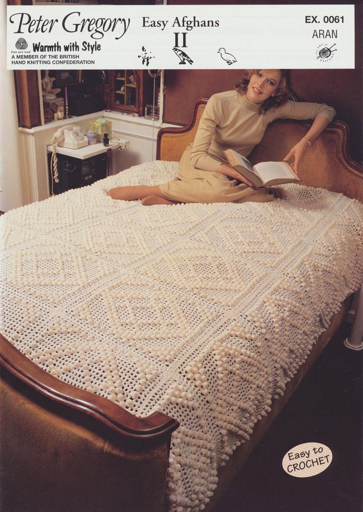 Scarves Knitting Patterns Free : Peter Gregory Aran Strickende Hakeln Muster Einfach Afghanen Tagesdecke EX006...
