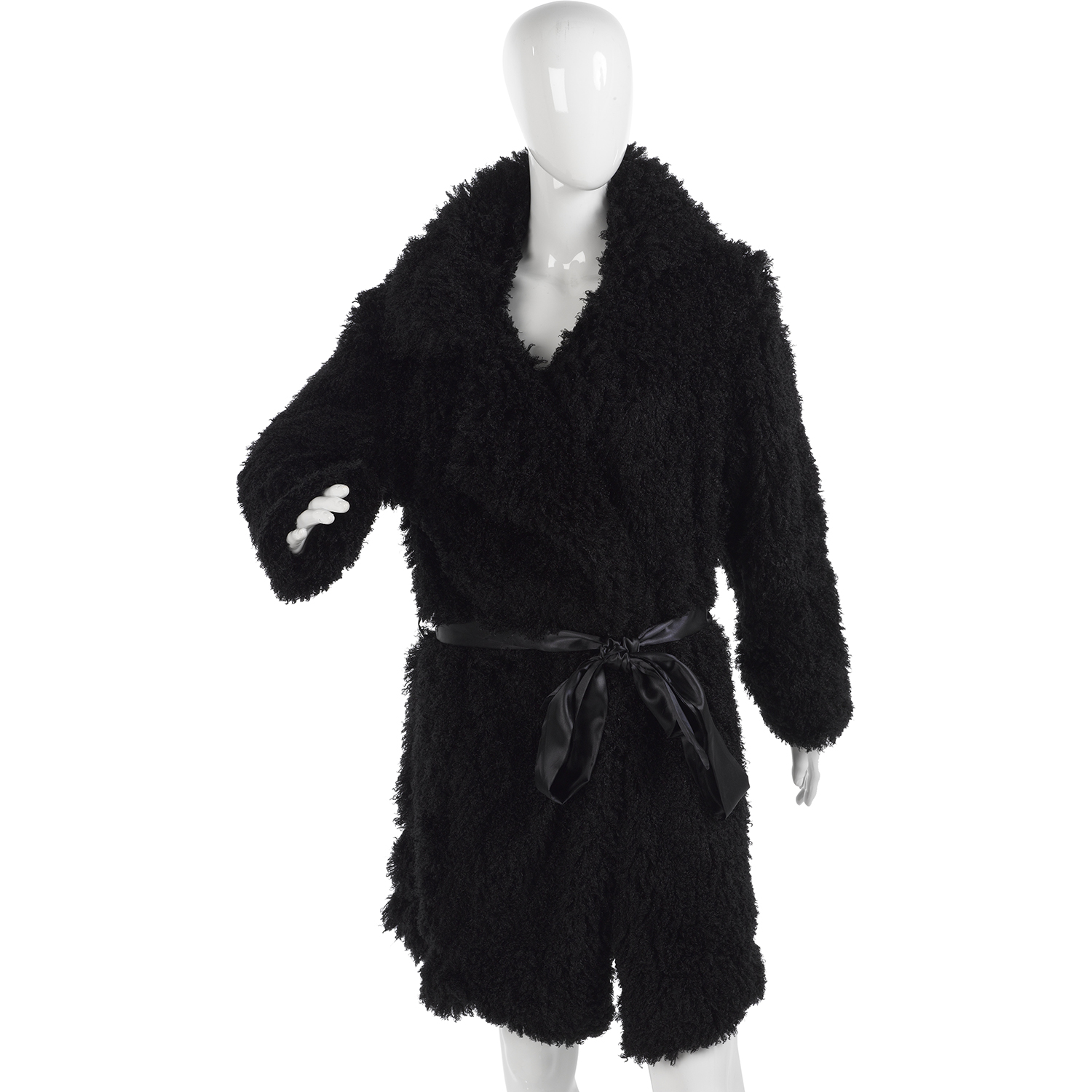 Ladies Luxury Fluffy Dressing Gown Slenderella Womens Mongolian ...