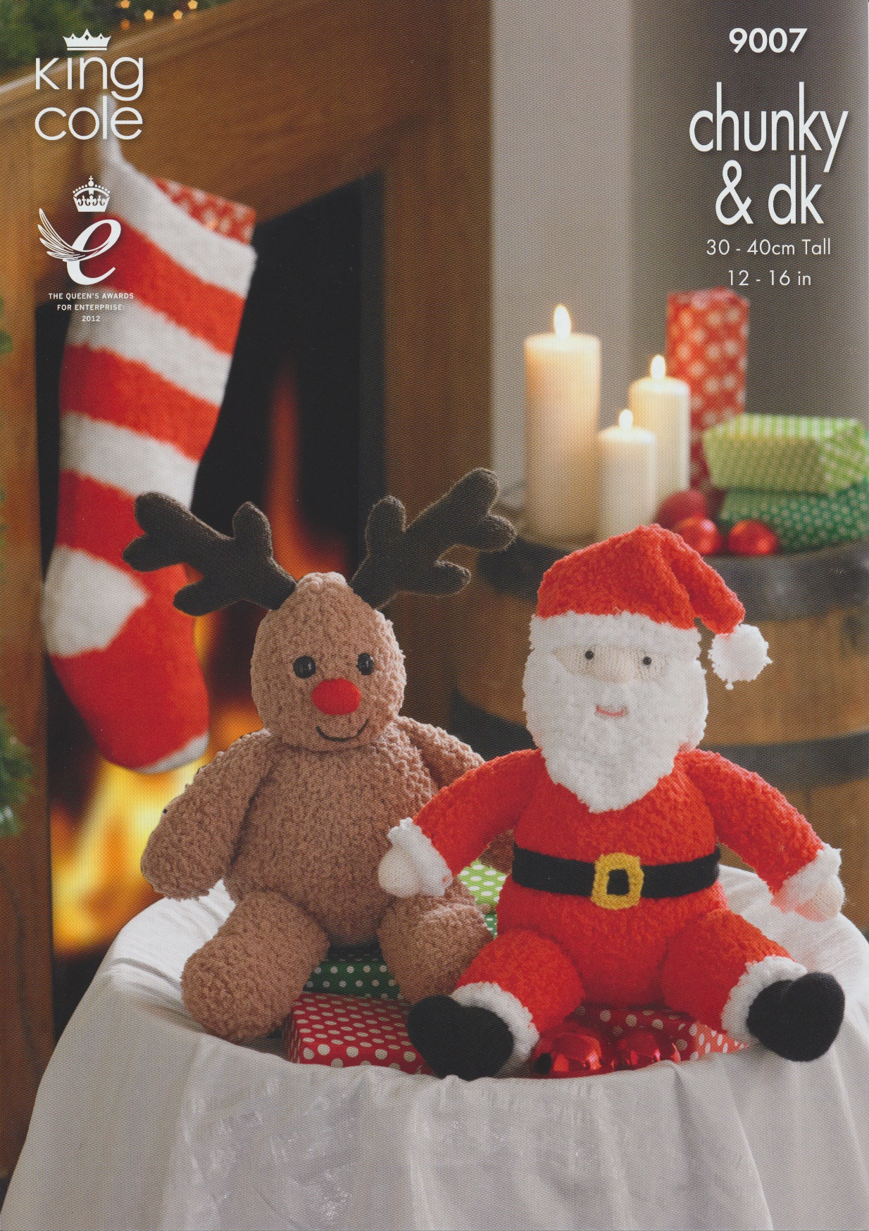 King Cole Snowman Knitting Pattern : DK Knitting Pattern King Cole Christmas Rudolph Snowman Santa & Stockings...