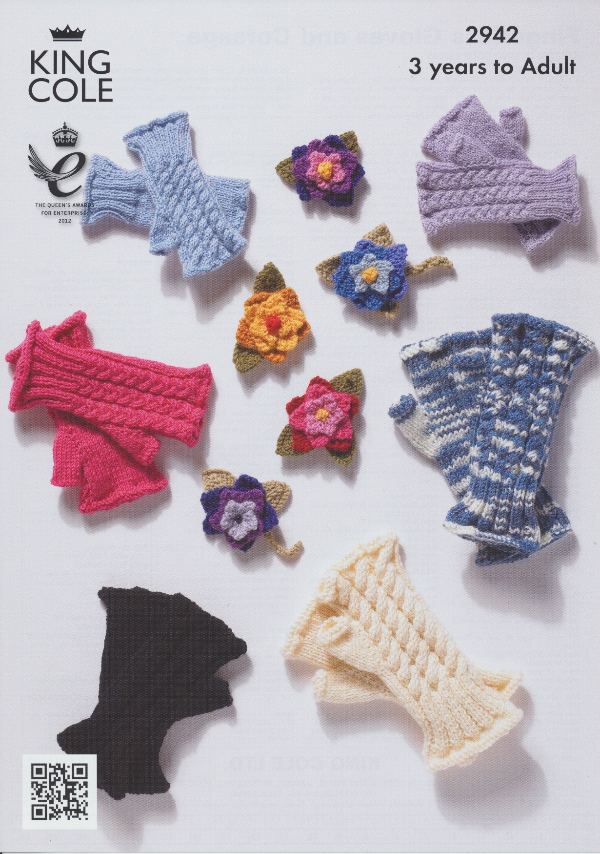 Knitting Pattern Ladies Gloves Dk : Womens DK Knitting Pattern King Cole Girls Fingerless ...