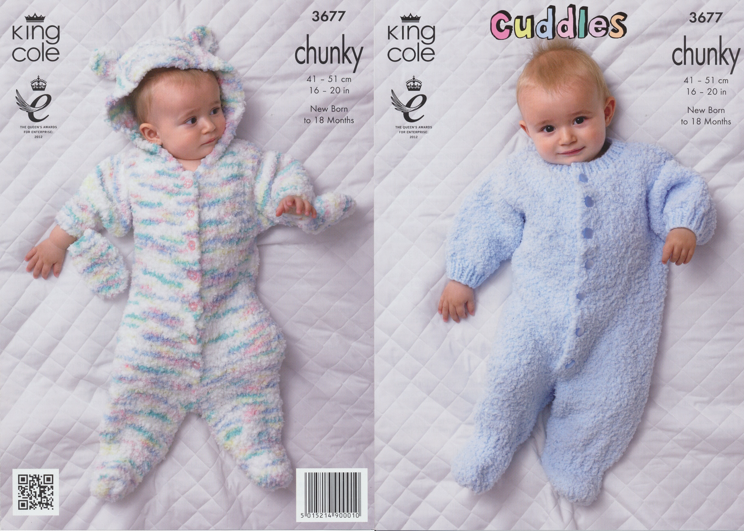 Cuddles Chunky Knitting Pattern King Cole Baby Hooded Snowsuit & Sleepsui...