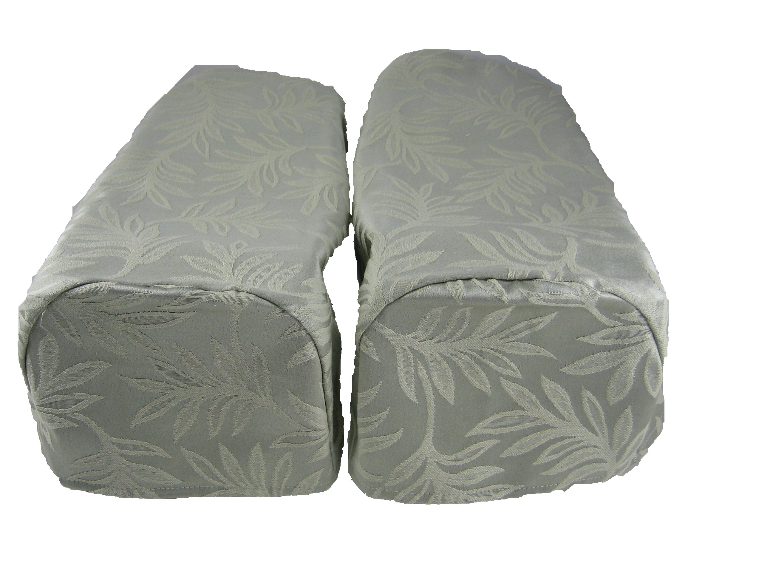 2 x Decorative Chair Settee Arm Cap Covers Green Pair