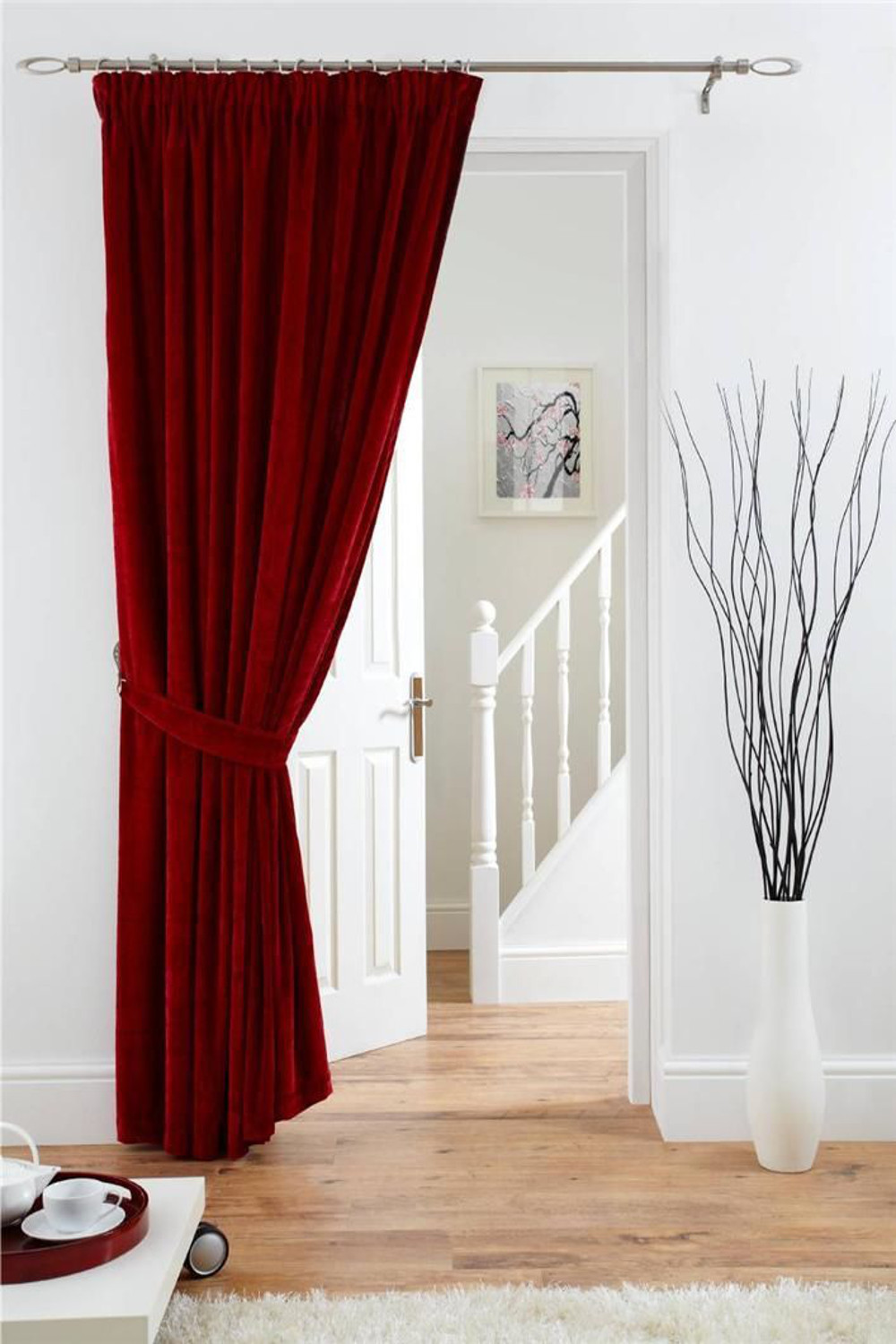 Image Result For Red Velour Curtains
