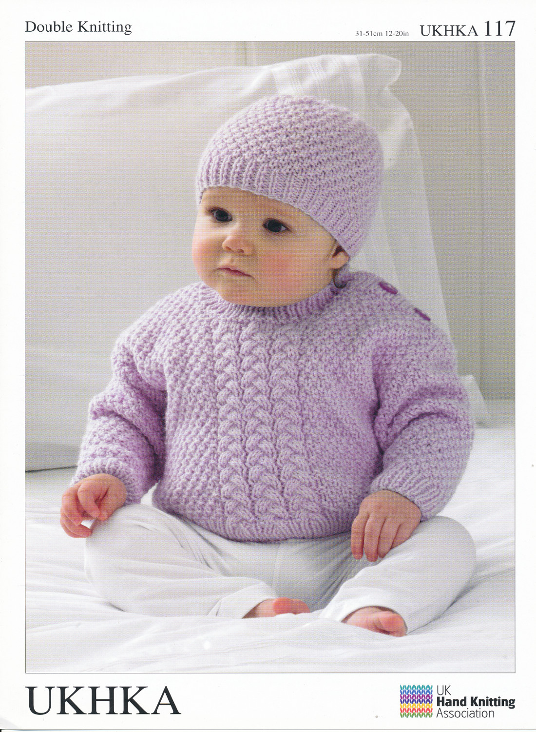 Knitting Patterns For Babies Double Knitting : Double Knitting DK Pattern Baby Cable or Moss Stitch Sweater Scarf Hat UKHKA ...