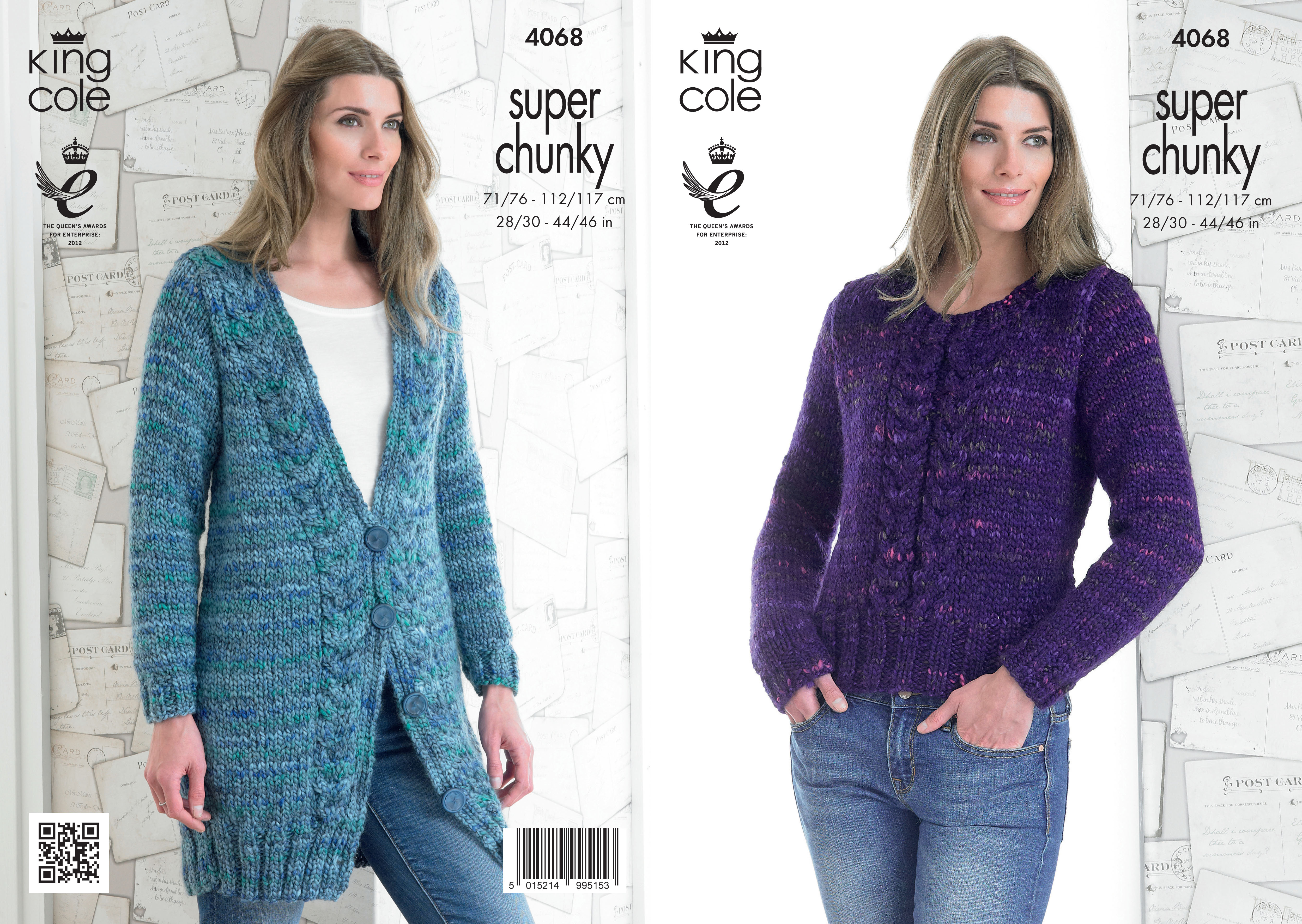 Knitting Pattern Ladies Cable Jumper : Ladies Gypsy Super Chunky Knit Pattern King Cole Cable ...