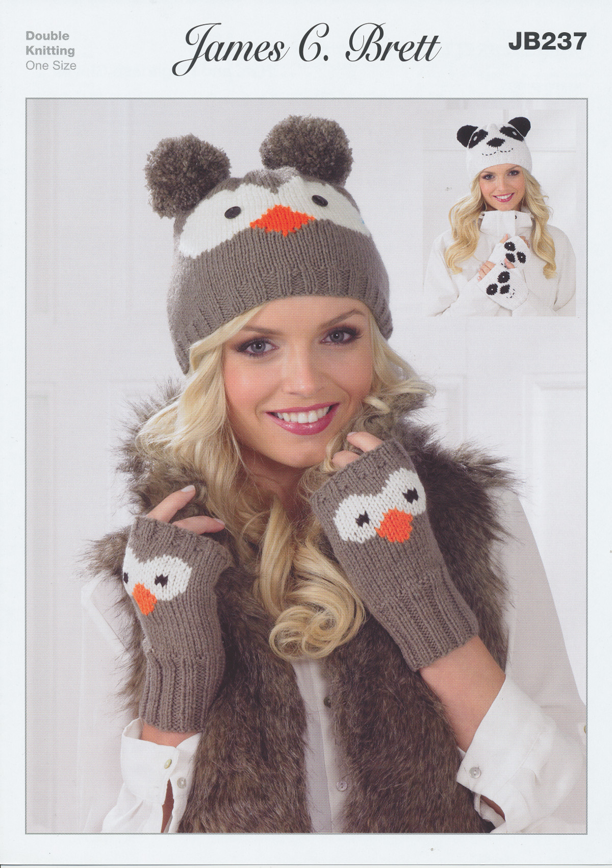 Ladies DK Double Knitting Pattern Owl or Panta Hat Gloves ...