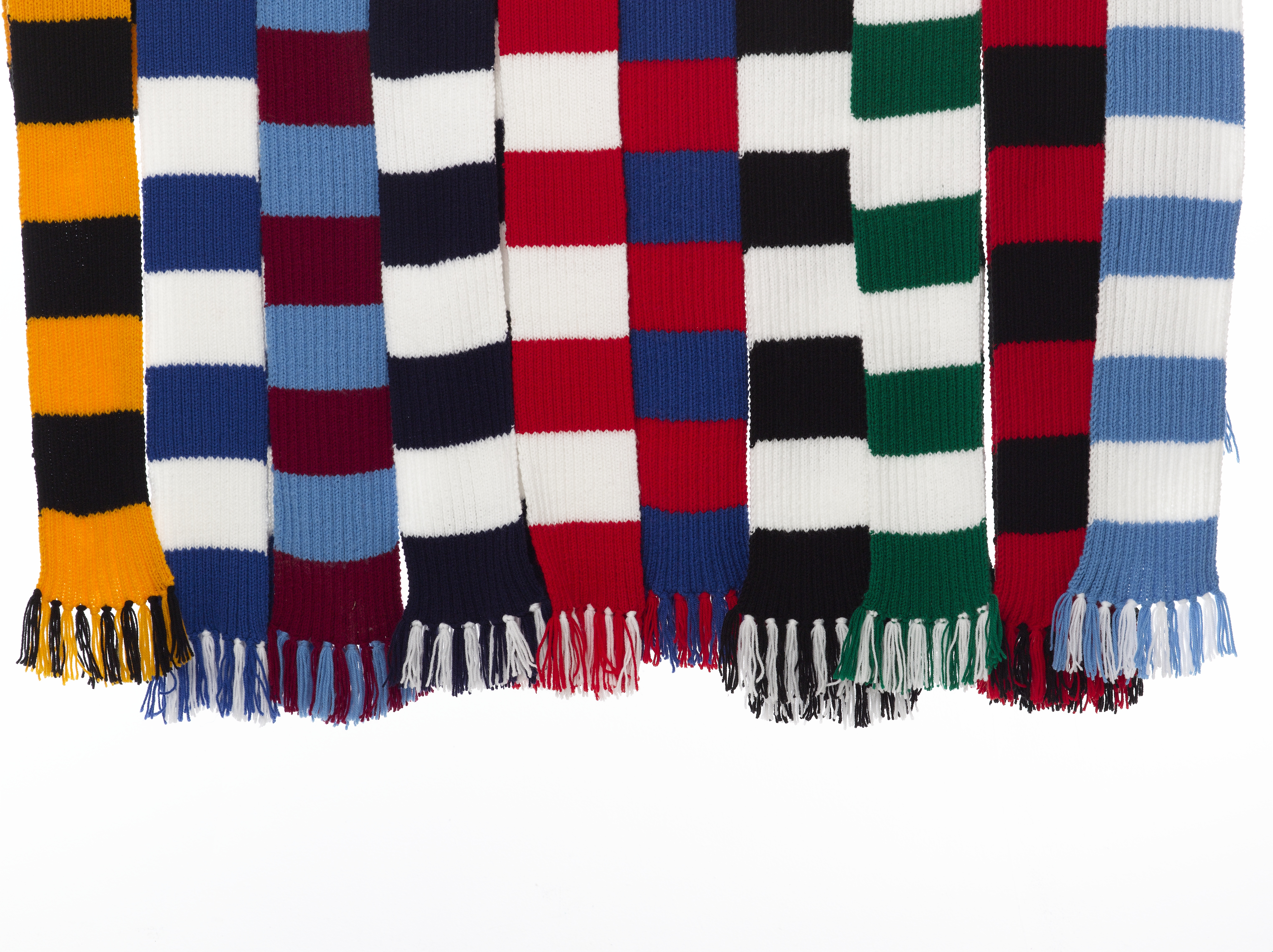 Double Knit Striped Scarf Pattern: Loom knit infinity scarf pattern ...
