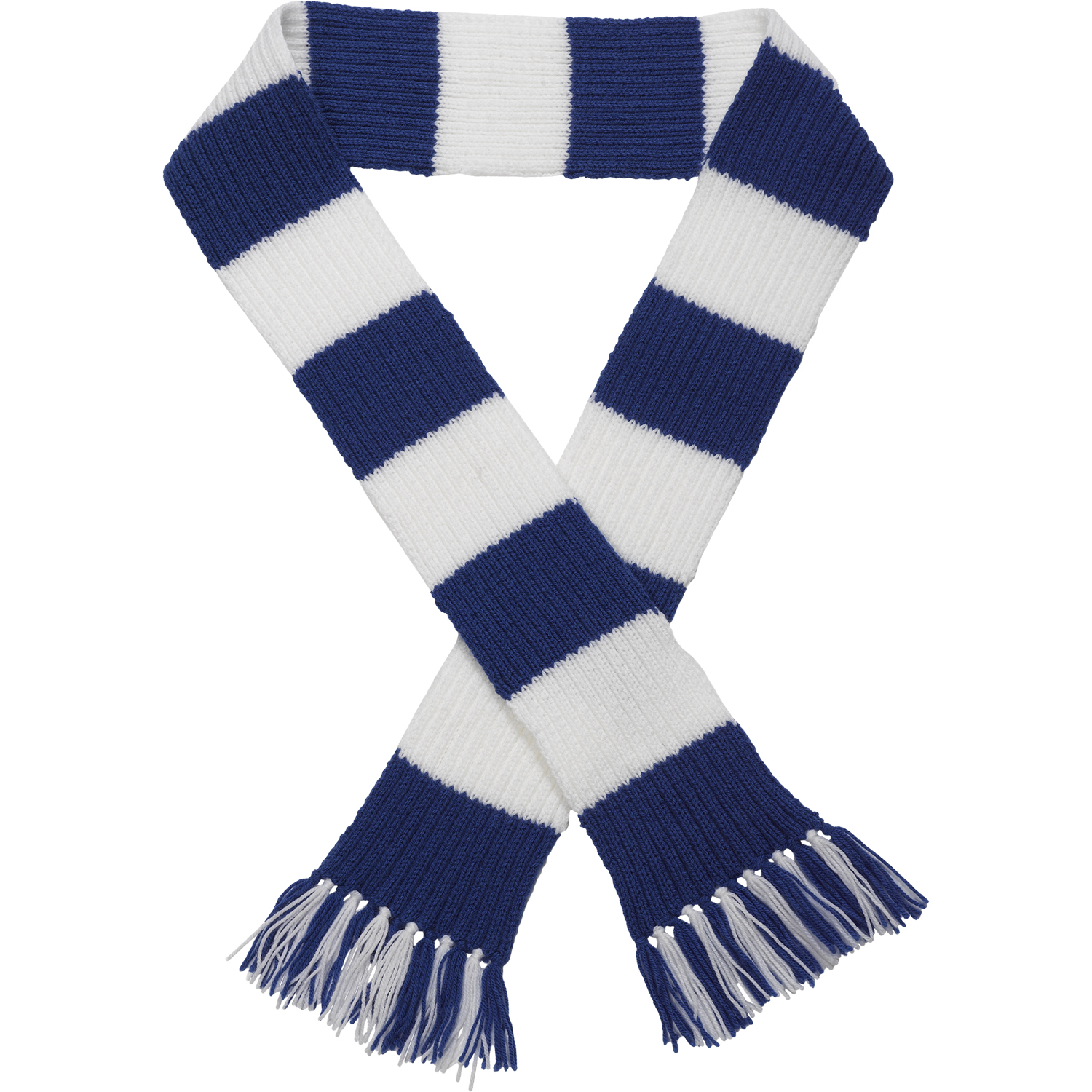 Knit Striped Scarf Pattern : Premier League Team Striped Football Scarf Knitting Pattern Wool Craft Hobby ...