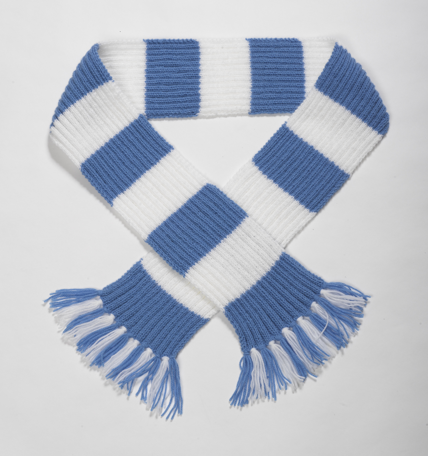 Knitting Pattern Wool Kits : Striped Football Scarf Double Knitting Pattern & Wool Premier League Craf...