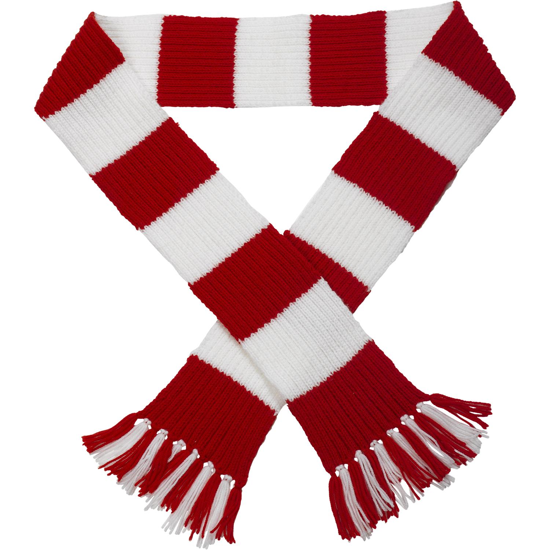 premier league team striped football scarf knitting