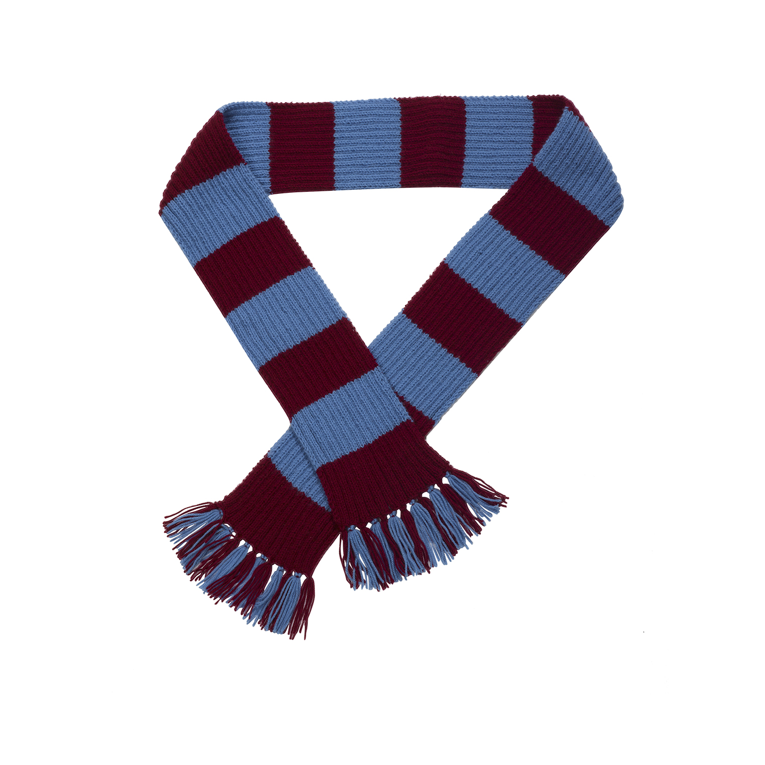 Knitting Pattern For Football Scarf : Craft Hobby Knitted Scarf Kit Football & Rugby DK Double ...