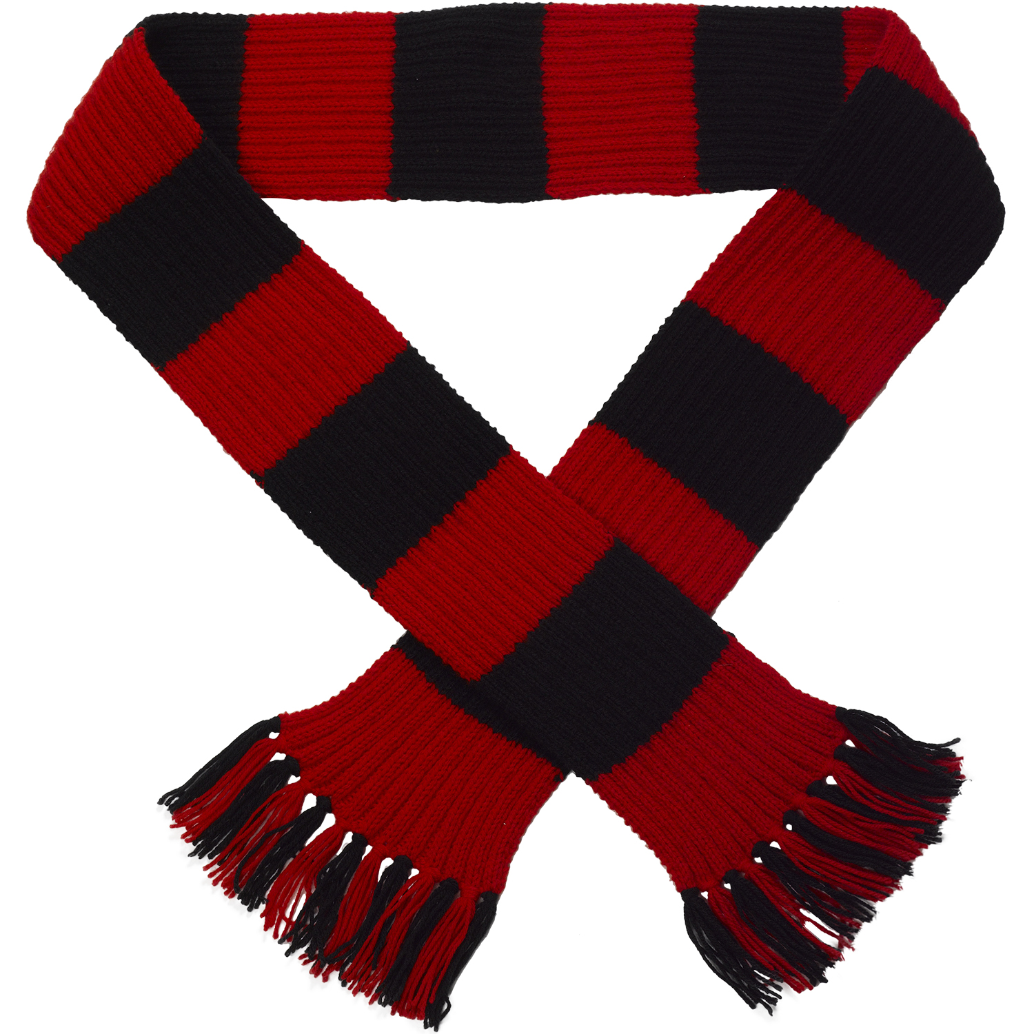 Two Colour Scarf Knitting Pattern : Craft Hobby Knitted Scarf Kit Football & Rugby DK Double Knitting Pattern...