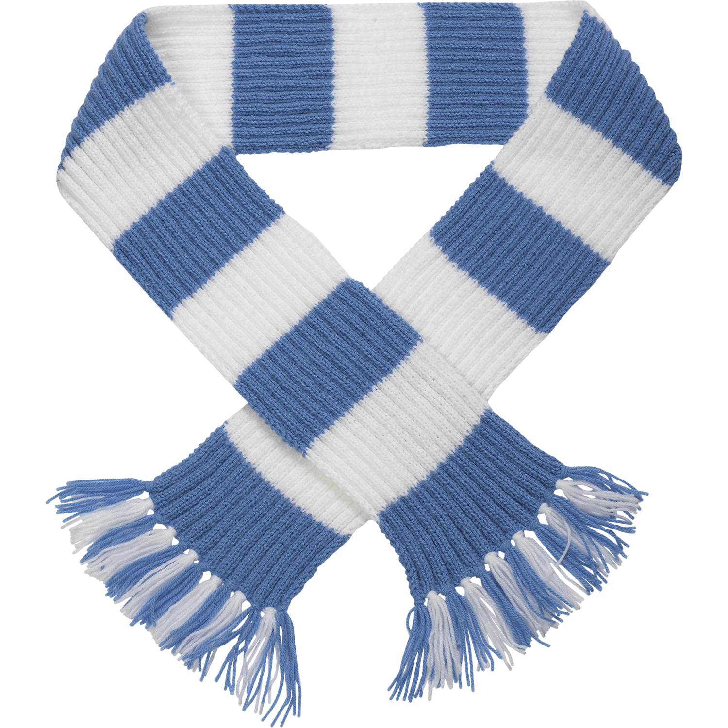 Knit Striped Scarf Pattern : Craft Hobby Knitted Scarf Kit Football & Rugby DK Double Knitting Pattern...