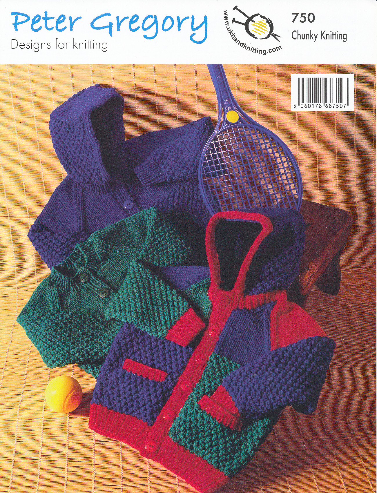 Scarves Knitting Patterns Free : Peter Gregory Chunky Knitting Pattern Boys Crew Neck Jacket Hooded Cardigan 7...