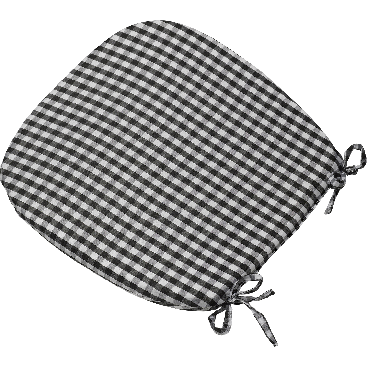Gingham Check Tie On Seat Pad 16 034 Gingham Check Tie On Seat Pad 16  x 16  Kitchen Outdoor Dining  . Round Seat Cushions For Dining Room Chairs. Home Design Ideas