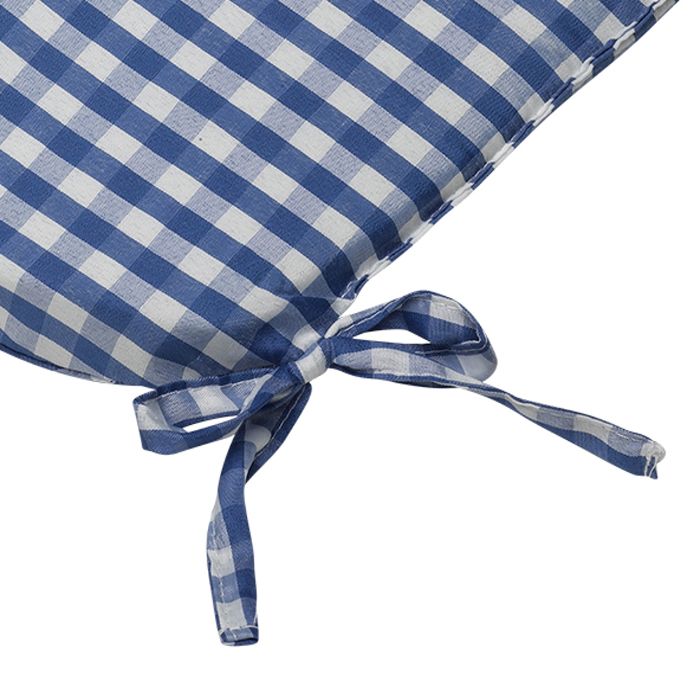 Gingham Check Tie On Seat Pad 406cm x Kitchen Outdoor  : gingham check round seat pad outdoor dining cushion blue close up from www.ebay.com.au size 1000 x 1000 jpeg 379kB