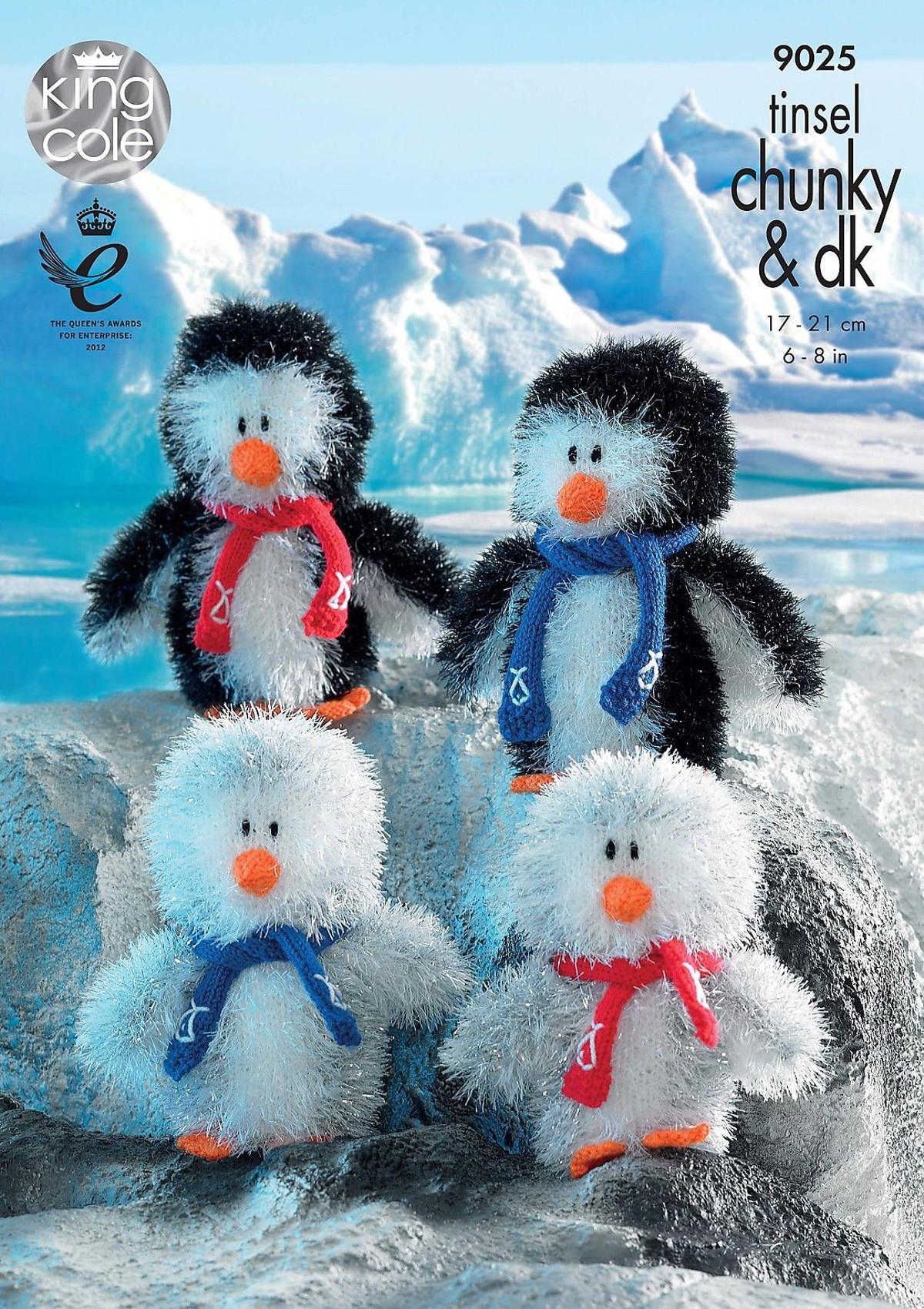 Tinsel Chunky & Dollymix DK Knitting Pattern Penguin Toy ...