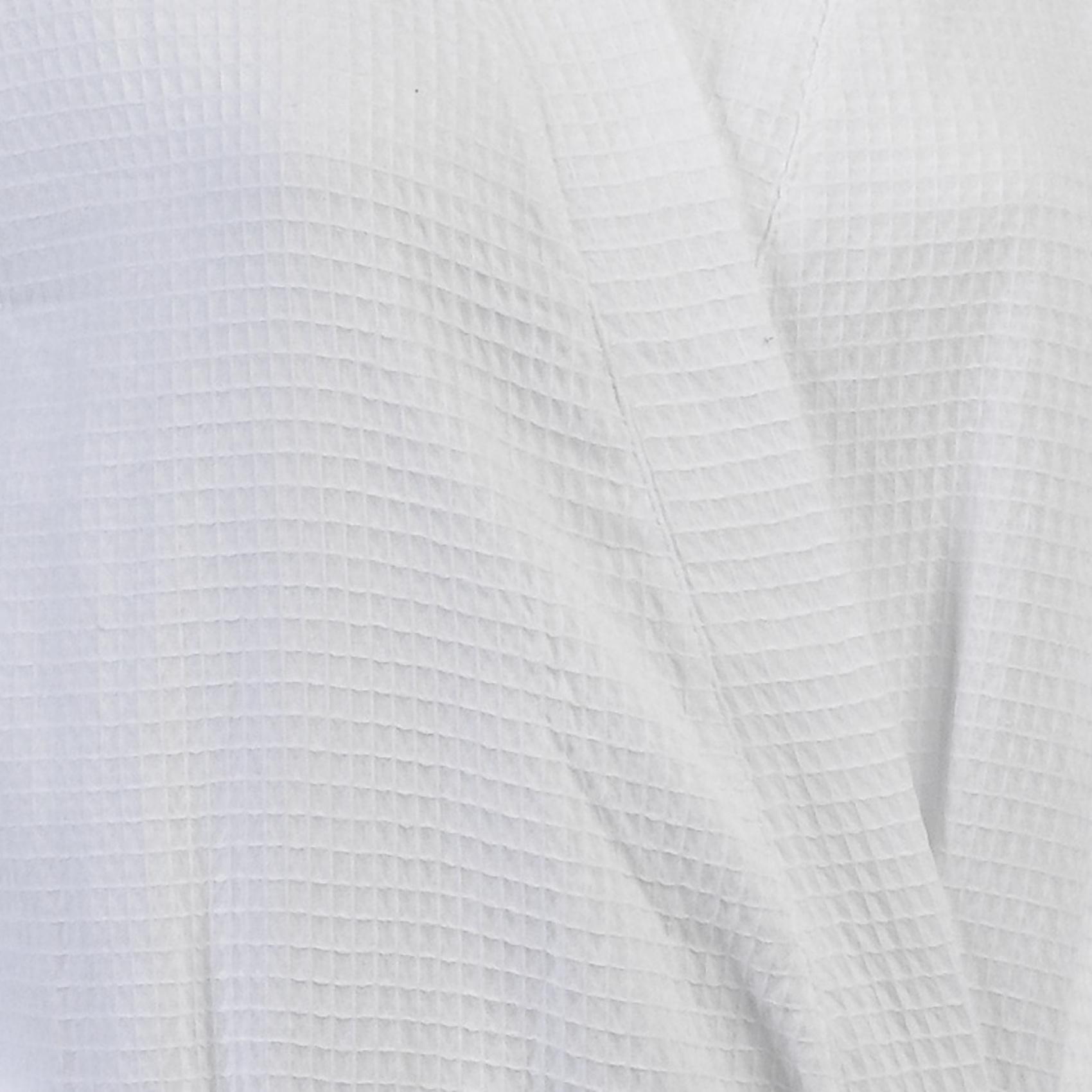 100 Cotton White Waffle Texture Wrap Dressing Gown Ladies
