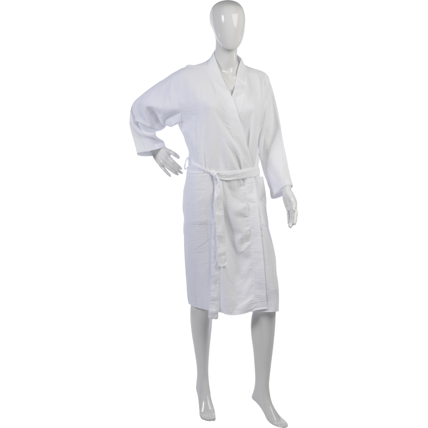 Womens Waffle Dressing Gown Ladies Lightweight 100% Cotton Wrap ...