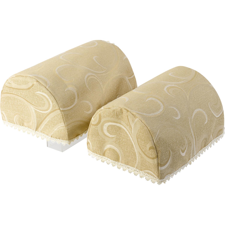 Havard Lace Trim Pair Of Arm Caps Swirl Design Sofa