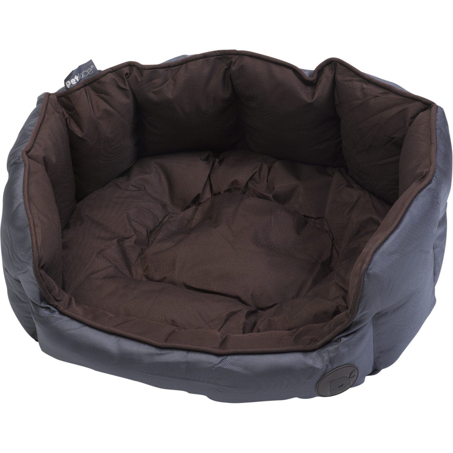 Petface Waterproof Oxford Pet Bed Puppy Dog Luxury Oval Or