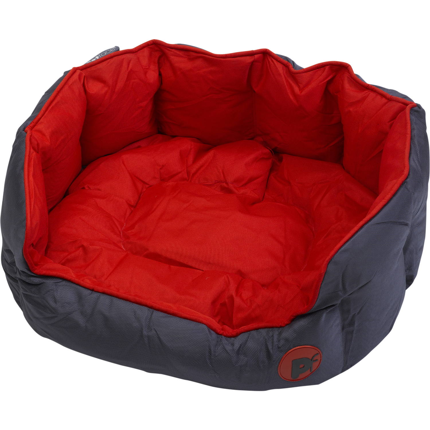Petface Waterproof Oxford Pet Bed Puppy Dog Luxury Oval Red