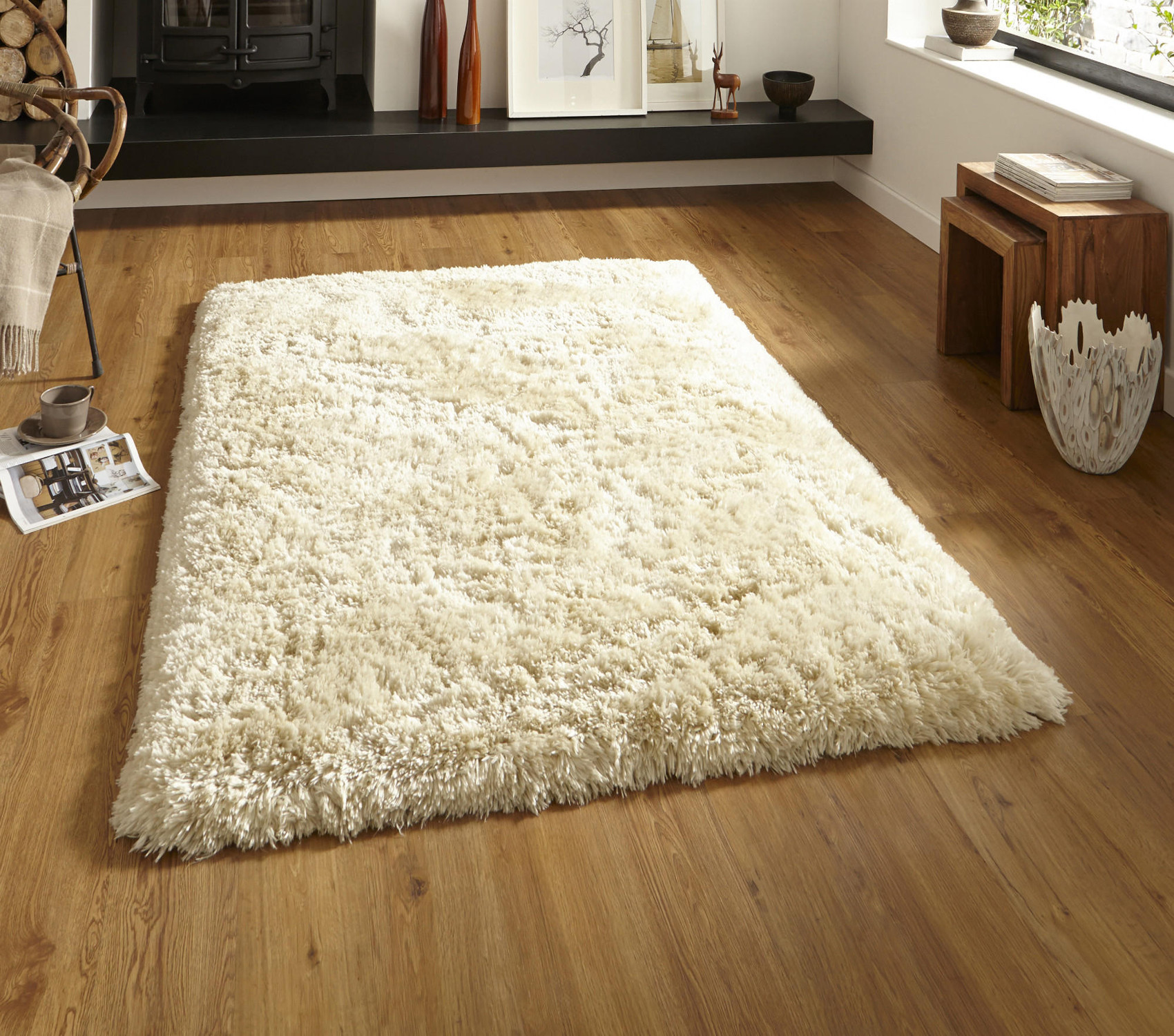 Cream Shag Rugs Home Decor