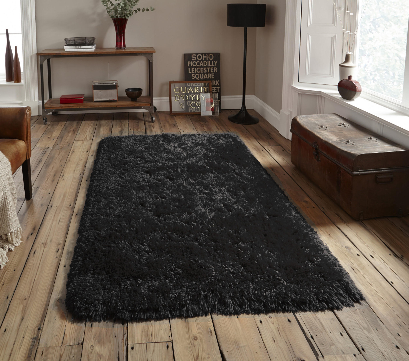 Super Soft Hand Tufted Shaggy Rug Polar 8.5cm Pile 100