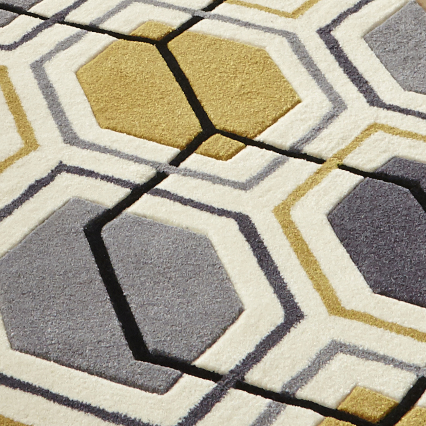 Hong Kong Hexagon Rug 100% Acrylic Hand Tufted Large